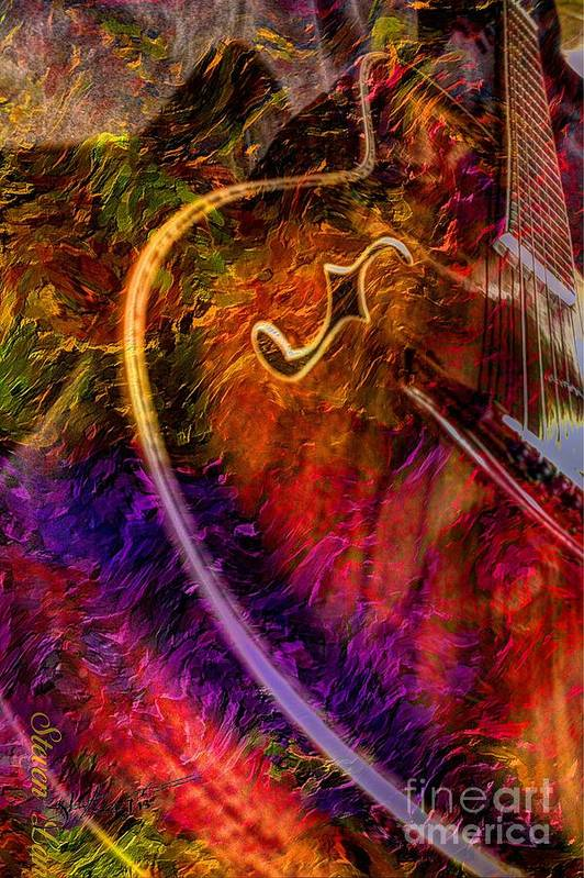 Acoustic Print featuring the photograph Song And Dance Digital Guitar Art By Steven Langston by Steven Lebron Langston