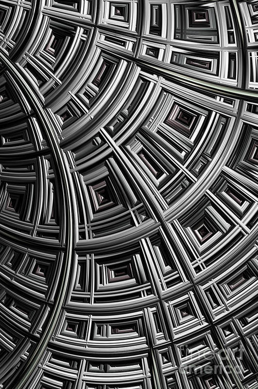 Mesh Print featuring the digital art Structure by John Edwards