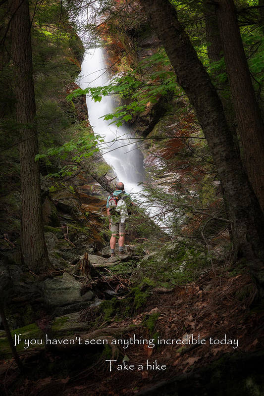 Race Brook Falls Print featuring the photograph Take A Hike by Bill Wakeley
