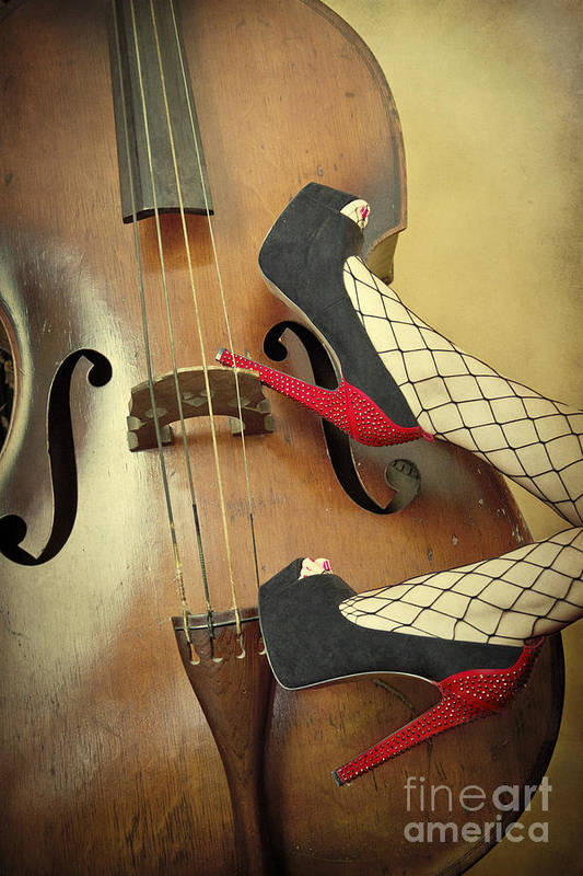 Antique Print featuring the photograph Tango For Strings by Evelina Kremsdorf