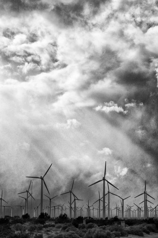 Windmills Print featuring the photograph The Mighty Wind Palm Springs by William Dey