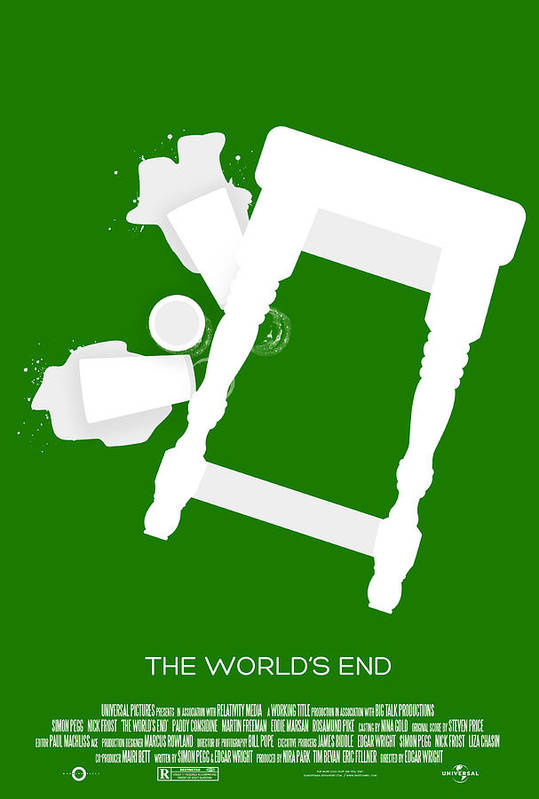 Zombies Print featuring the digital art The Worlds End Cornetto Trilogy Custom Poster by Jeff Bell