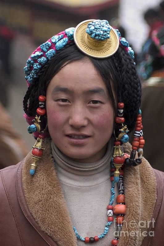 To Travel Print featuring the photograph Tibetan Beauty - Kham by Craig Lovell