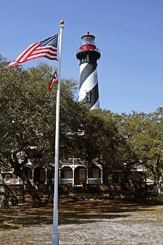 St Print featuring the photograph Viva Florida - The St Augustine Lighthouse by Christine Till