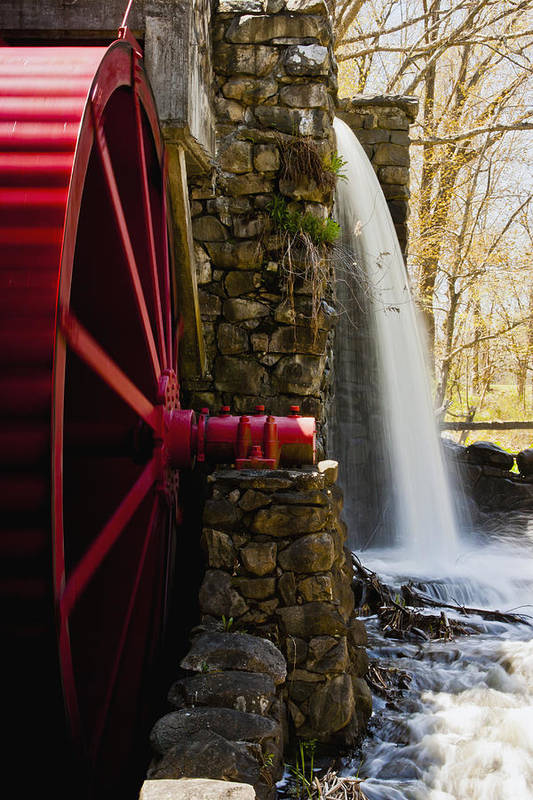 Wayside Grist Mill Print featuring the photograph Wayside Grist Mill by Dennis Coates