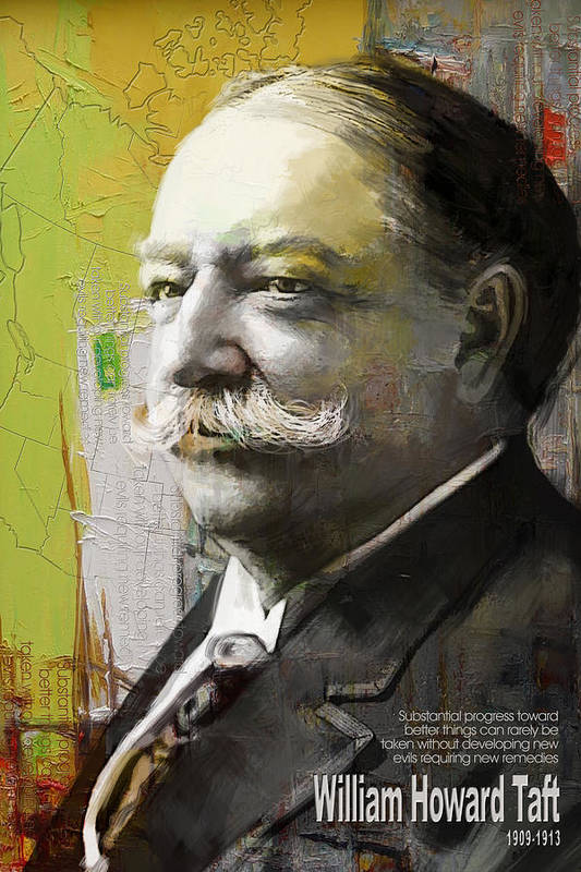 William Howard Toft Print featuring the painting William Howard Taft by Corporate Art Task Force