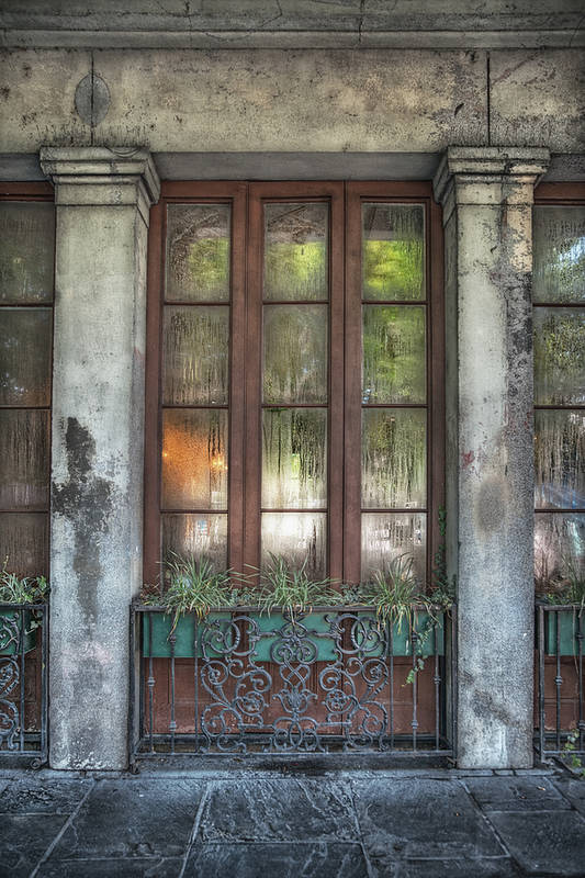 French Quarter Print featuring the photograph Window In The Quarter by Brenda Bryant
