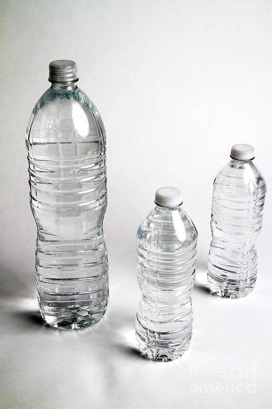 Still Life Print featuring the photograph Bottled Water by Photo Researchers