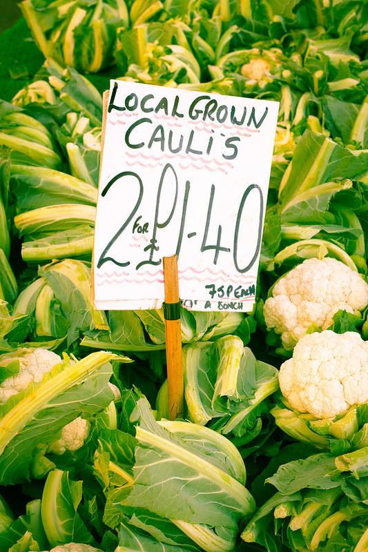 Abundance Print featuring the photograph Cauliflower by Tom Gowanlock
