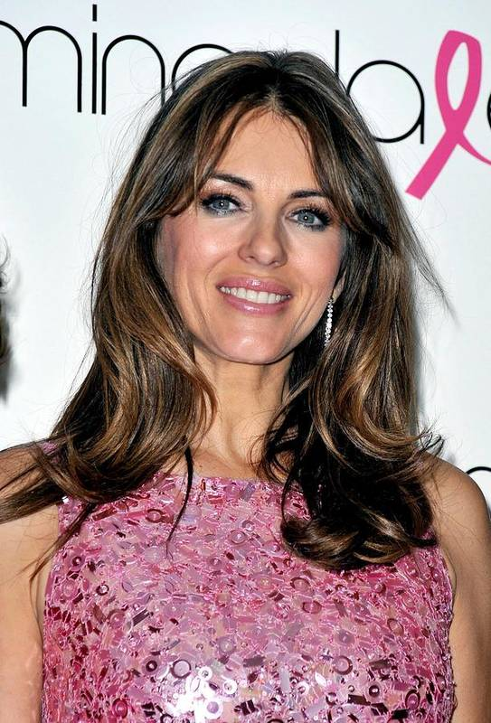 Elizabeth Hurley Print featuring the photograph Elizabeth Hurley At A Public Appearance by Everett