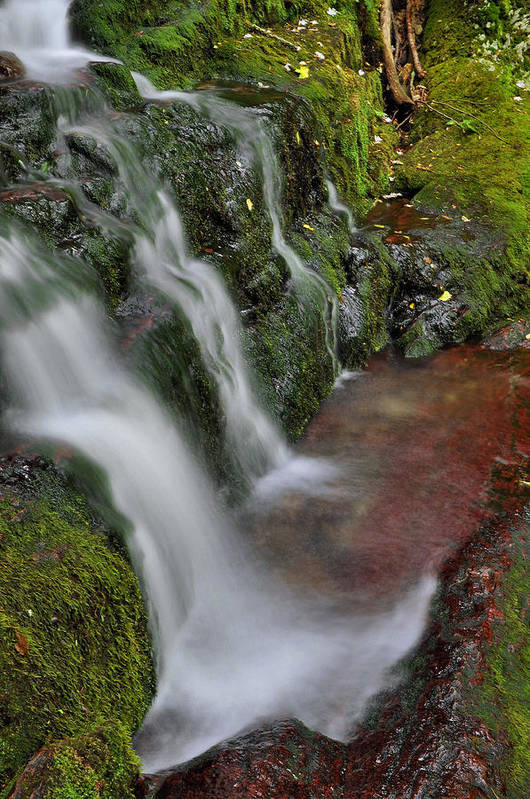 Waterfall Print featuring the photograph Lower Buttermilk Falls by Stephen Vecchiotti