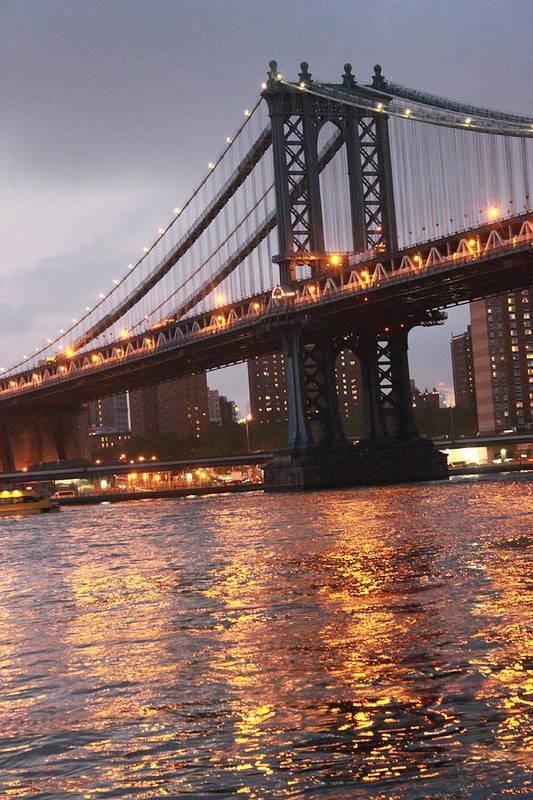 Bridge Print featuring the photograph Manhattan Bridge by Nina Mirhabibi