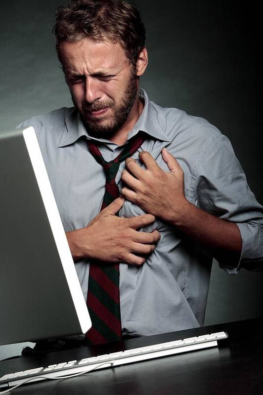 Computer Print featuring the photograph Stress-related Heart Attack by Mauro Fermariello