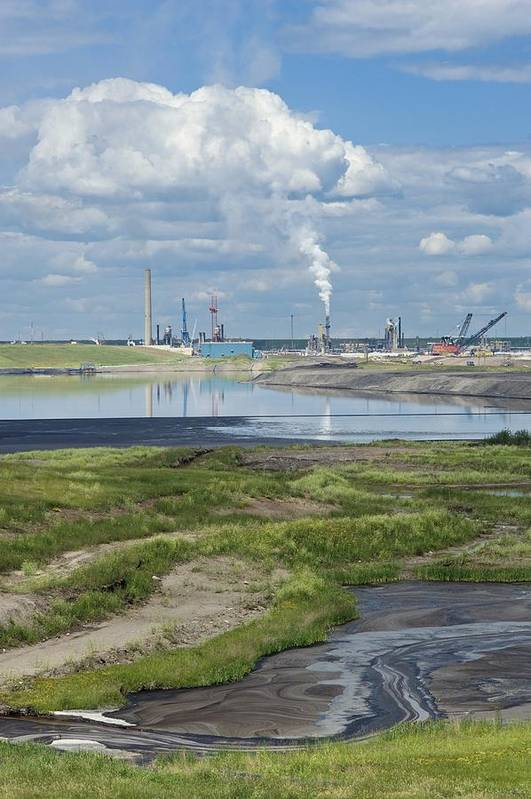 Pollution Print featuring the photograph Oil Industry Pollution by David Nunuk