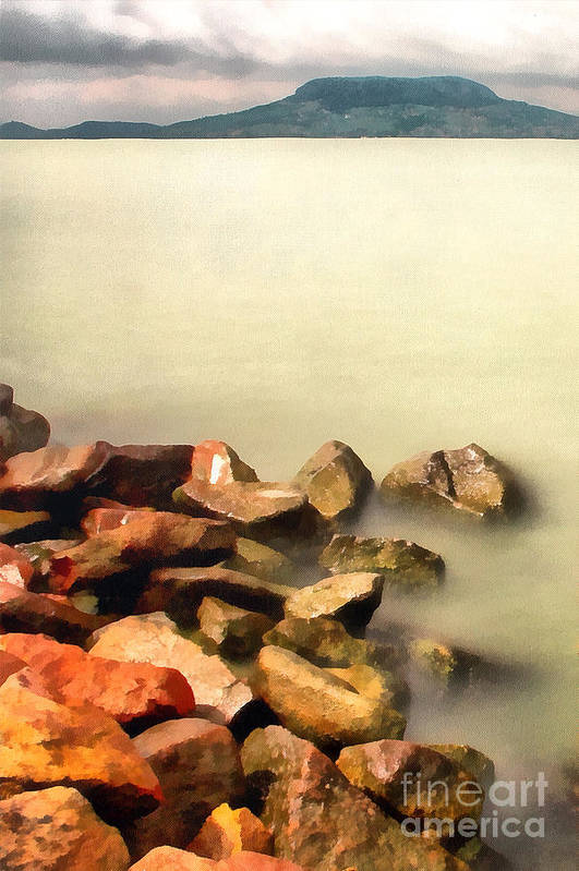 Odon Print featuring the painting Calm by Odon Czintos