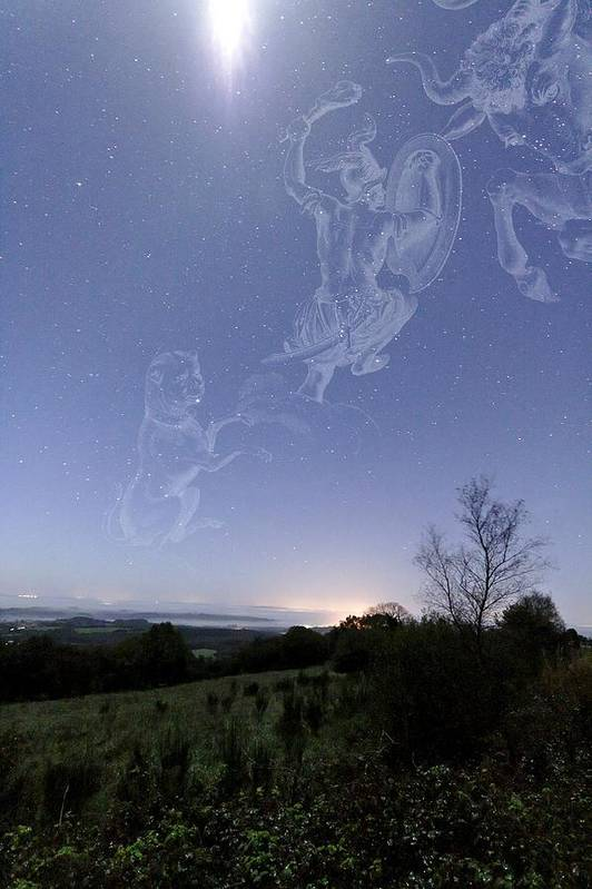 Star Print featuring the photograph Night Sky by Laurent Laveder