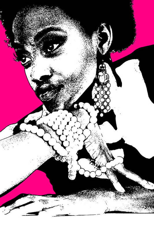African Print featuring the photograph Aisha Pink by Naxart Studio