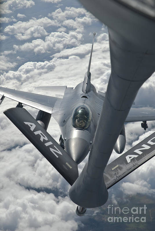 Transportation Print featuring the photograph An F-16 From Colorado Air National by Giovanni Colla