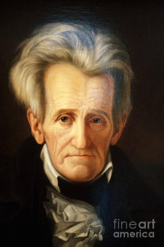 History Print featuring the photograph Andrew Jackson, 7th American President by Photo Researchers
