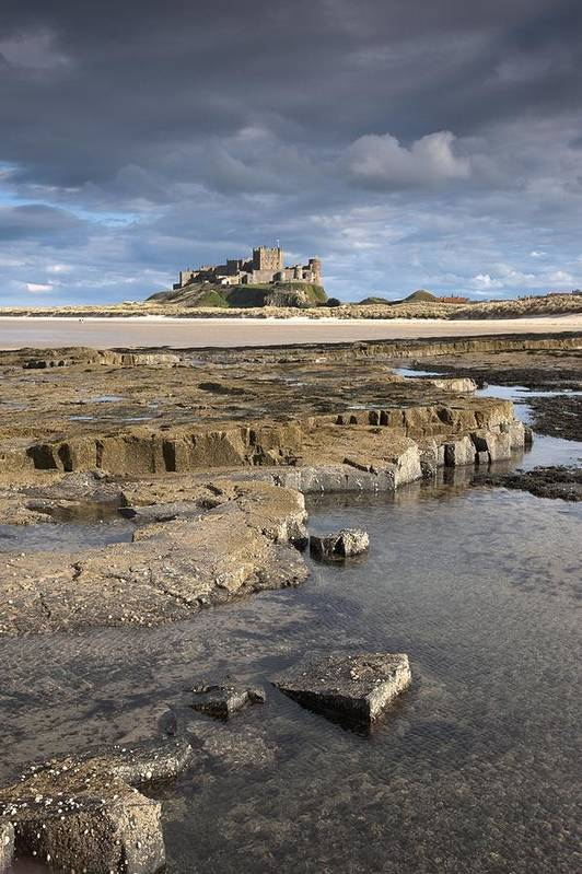 Northumberland Print featuring the photograph Bamburgh, Northumberland, England by John Short
