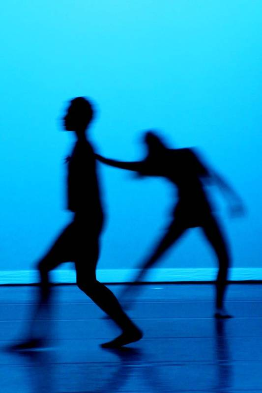Dance Print featuring the photograph Blue Dancers by Kenneth Mucke