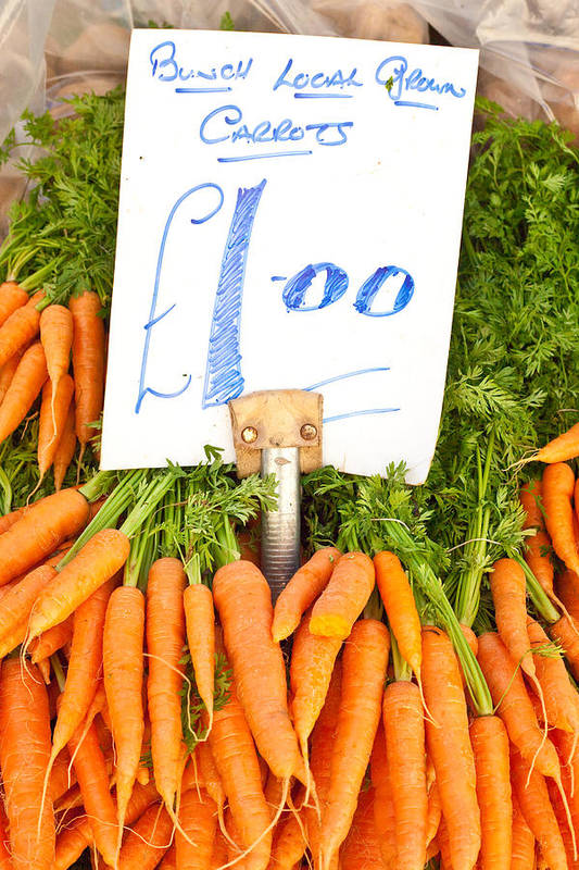 Carrots Print featuring the photograph Carrots by Tom Gowanlock