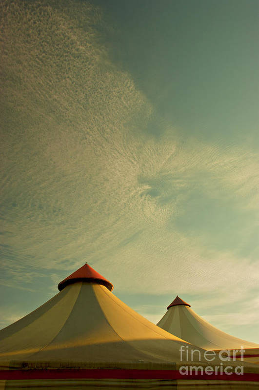 Circus Summers Retro Big Tops France French Sf Classic Fiction Print featuring the photograph Circus Summers by Paul Grand