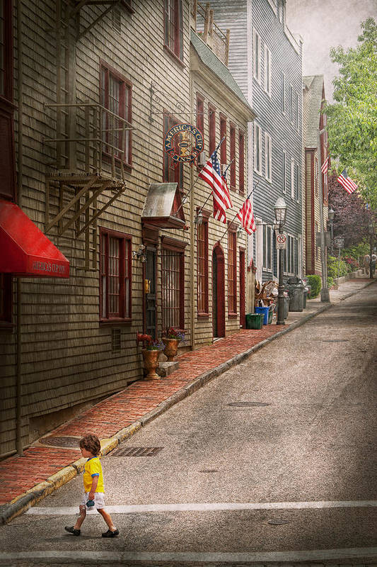Rhode Print featuring the photograph City - Rhode Island - Newport - Journey by Mike Savad