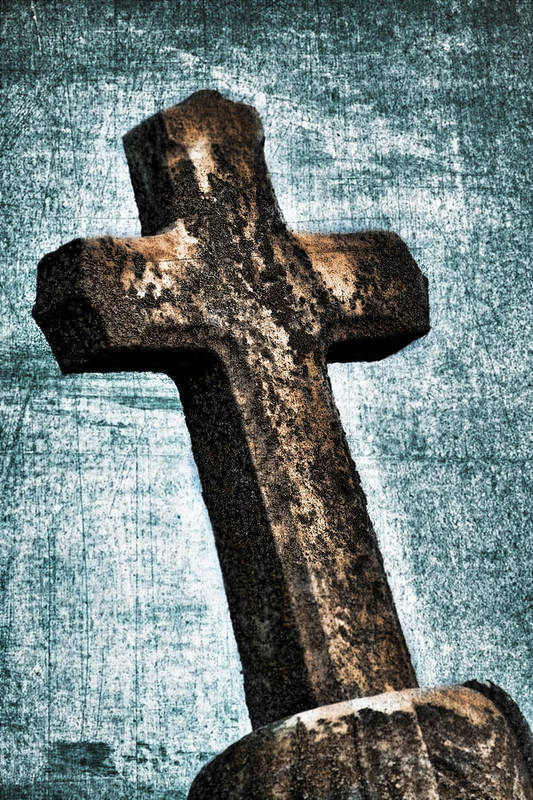 Algae Print featuring the photograph Cross by Darren Fisher