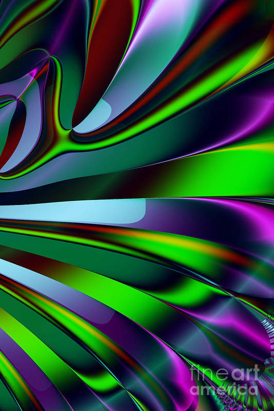Fractal Print featuring the digital art Eichler Is Lost . S9 by Wingsdomain Art and Photography