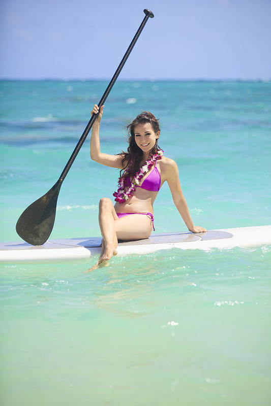 Athletic Print featuring the photograph Female Paddler II by Tomas del Amo