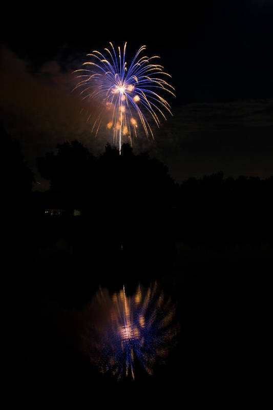 4th Of July Print featuring the photograph Fireworks Reflection by James BO Insogna
