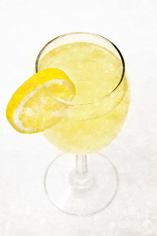 Glass-of-lemonade Print featuring the photograph Glass Of Lemonade by Andee Design