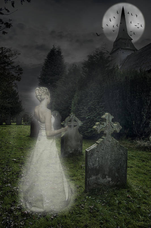 Haunted Print featuring the photograph Haunting by Amanda Elwell