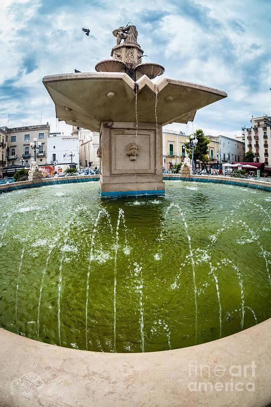 Fountain Print featuring the photograph Historic Fountain by Sabino Parente
