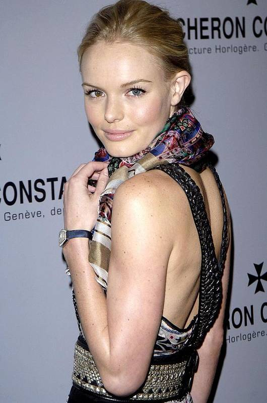 Vacheron Constantin Watch Brand Launches Platinum Excellence Tim Print featuring the photograph Kate Bosworth Wearing Etro At Arrivals by Everett