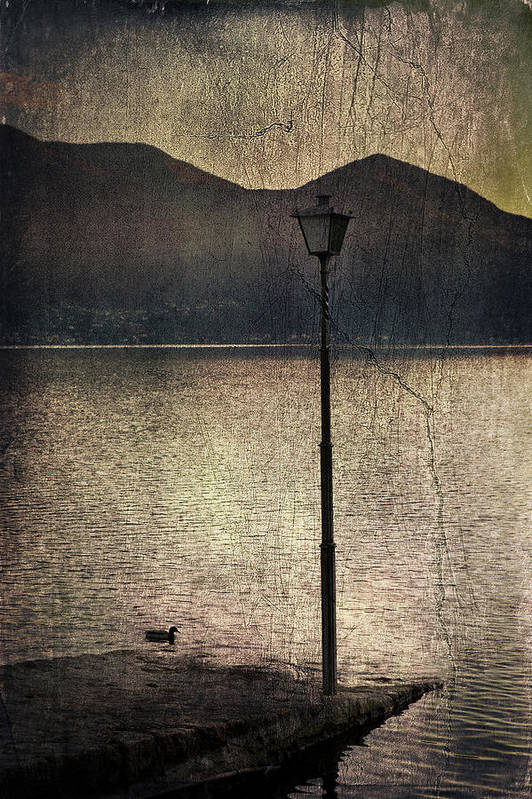 Lantern Print featuring the photograph Lantern At The Lake by Joana Kruse