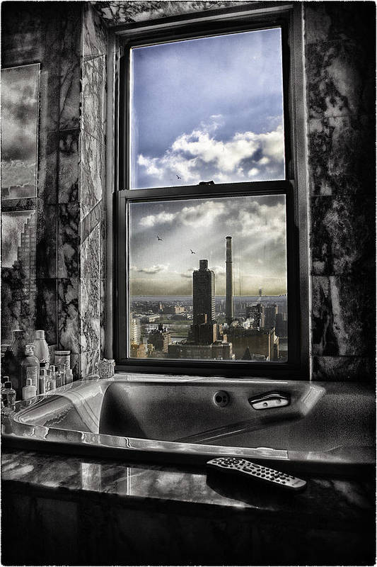 Manhattan Print featuring the photograph My Favorite Channel Is Manhattan View by Madeline Ellis
