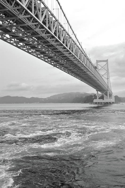 Vertical Print featuring the photograph Onaruto Bridge by Miguel Castaneda