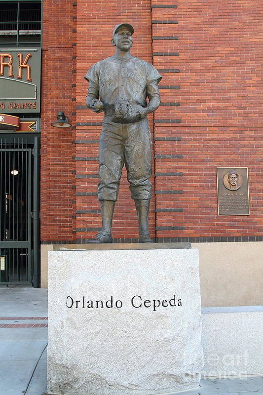 San Francisco Print featuring the photograph Orlando Cepeda At San Francisco Giants Att Park .7d7631 by Wingsdomain Art and Photography