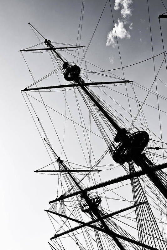 Mast Print featuring the photograph Pirate Ship by Joana Kruse