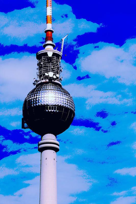 Tv Tower Print featuring the photograph Pop Art Berlin by Falko Follert