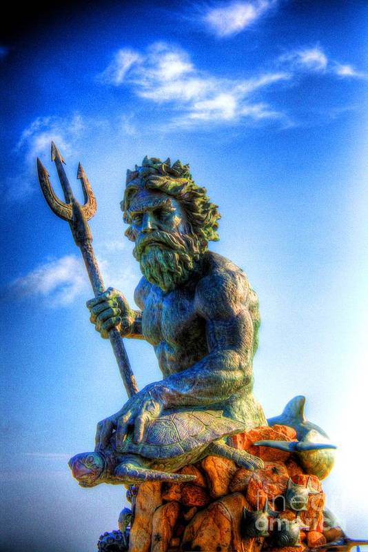 Ancient Print featuring the photograph Poseidon by Dan Stone