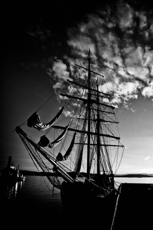 Art Print featuring the photograph Sails In The Sunset by Hakon Soreide