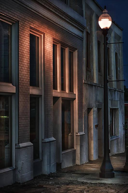 Hattiesburg Print featuring the photograph Street Light by Brenda Bryant