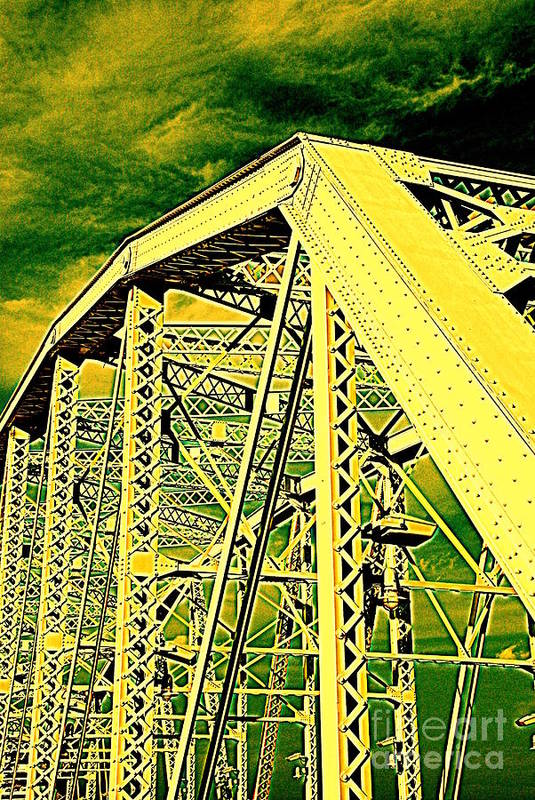 Bridge Print featuring the photograph The Bridge To The Skies by Susanne Van Hulst