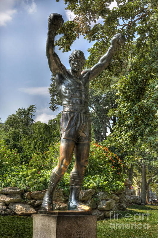 Arena Print featuring the photograph The Bronze Stallion II - Rocky Balboa - Philadelphia - Pennsylvania - Rocky Steps by Lee Dos Santos
