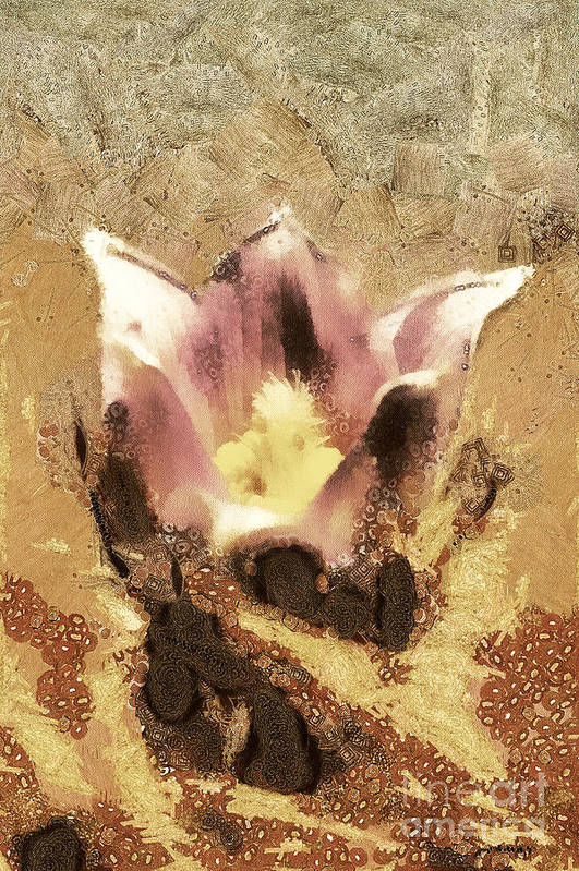 Odon Print featuring the painting The Light Flower by Odon Czintos