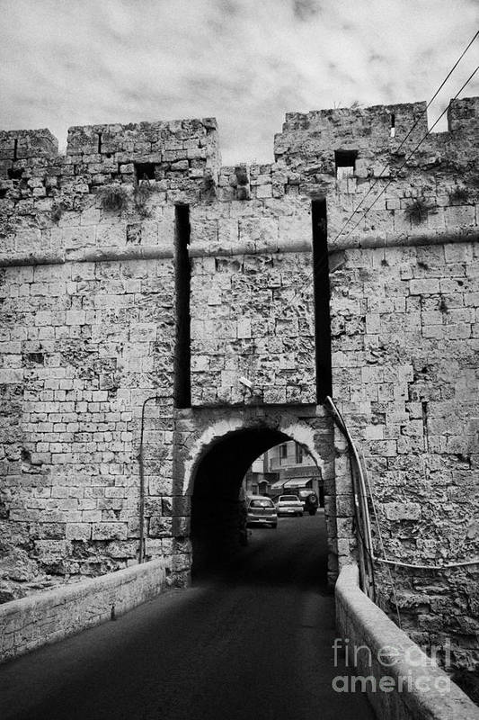 Famagusta Print featuring the photograph The Porta Di Limisso The Old Land Limassol Gate In The Old City Walls Famagusta Cyprus by Joe Fox