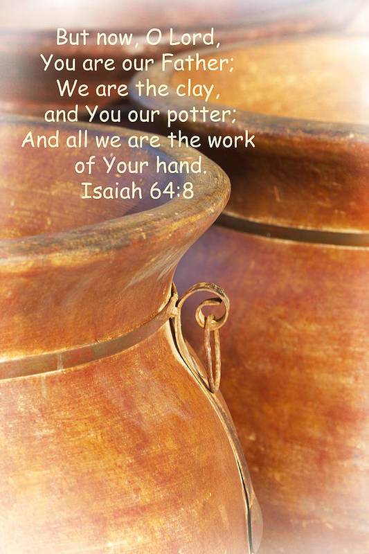 Lord Print featuring the photograph We Are The Clay - You The Potter by Kathy Clark